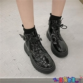 99免運 馬丁靴 短靴女單靴英倫風鞋子女2021年新款春秋厚底加絨機車馬丁靴潮 【寶貝計畫】