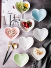 愛心形碗北歐陶瓷情侶雙皮奶布丁水果沙拉甜品碗