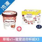 哈根達斯草莓甜蜜寵愛迷你組【愛買冷凍】