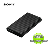 Sony 索尼 Extermal SSD 240GB Type-C USB3.1 外接式 固態硬碟-黑