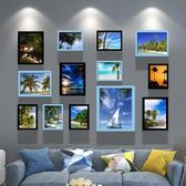 簡約現代照片墻裝飾相框墻客廳相框創意掛墻組合餐廳懸掛相片墻WY 七夕節活動 最後一天