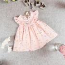 女童洋裝 女童連身衣 女童連身裙 粉色飛袖彩虹款【WB0005】