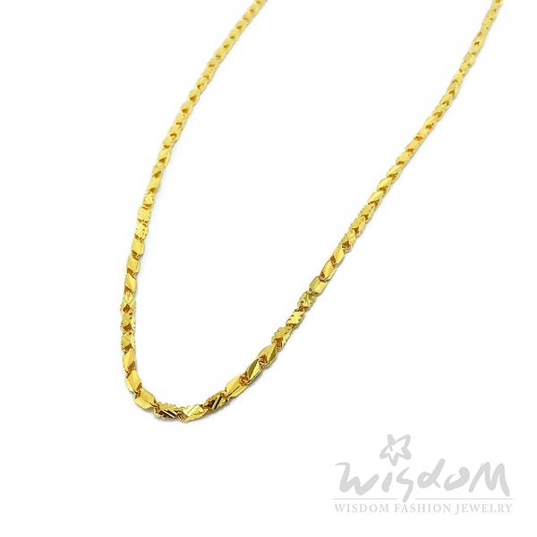 威世登 黃金項鍊-注鍊 金重約5.17~5.19錢 GB00693-AHXX-FIX