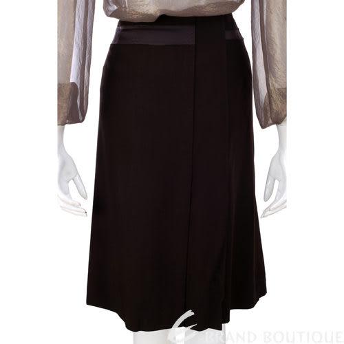 ALBERTA FERRETTI 咖啡色打褶綁帶及膝裙 0630241-07