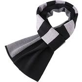 針織圍巾-羊毛加厚經典拼色男披肩3色73wi76【時尚巴黎】