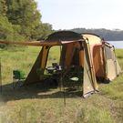 雙十二年終盛宴戶外家庭野營一房一廳帳篷防...