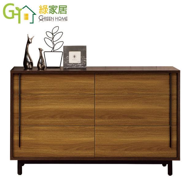 【綠家居】艾培拉 時尚3.6尺木紋六斗櫃/收納櫃