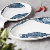 陶瓷家用魚盤子餃子盤碟子燒烤盤酒店餐具