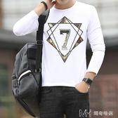 男士長袖  長袖T恤男士男士外穿衣服青年學生韓版修身百搭潮流  ciyo黛雅