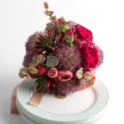 模擬花假花 套裝 花藝 客廳餐桌 裝飾花 花瓶捧花结婚花束 -bri01052