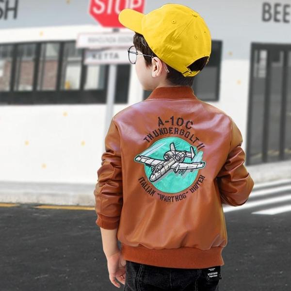 男童外套 男童外套春秋款新款兒童PU皮衣夾克中大童男孩加絨加厚皮上衣 檸檬衣舍
