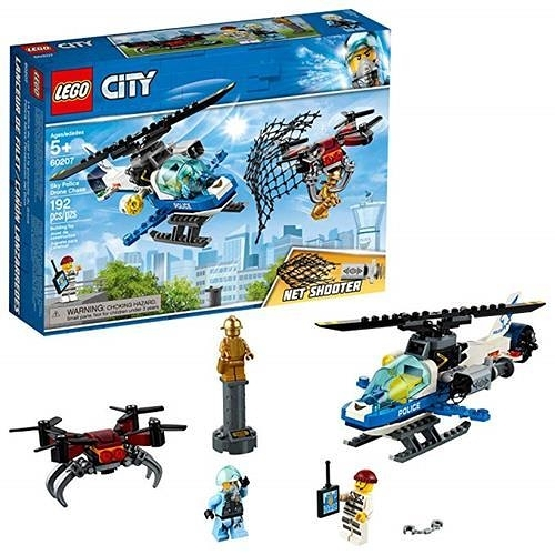 LEGO 樂高 City Sky Police Drone Chase 60207 Building Kit , New 2019 (192 Piece)