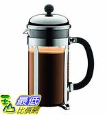 [106 美國直購] Bodum 1928-16USW Chambord 8 cup 法式濾壓壺 咖啡壺 French Press Coffee Maker, 34 oz, Chrome