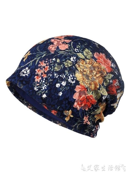 頭巾帽 帽子女夏天月子帽頭巾化療純棉透氣睡覺光頭老人春秋媽媽睡帽薄款 艾家