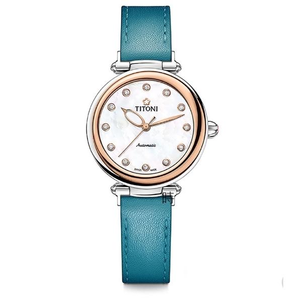 TITONI 梅花麥 瑞士 時尚 機械錶(23978 SRG-STT-622) 快拆/玫塊金框
