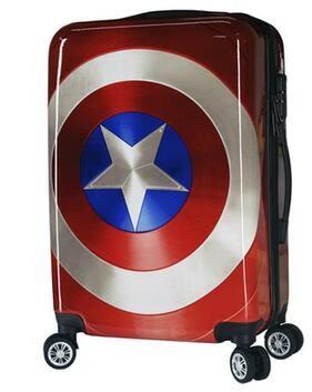 美國隊長行李箱 拉桿箱 復古登機箱 密碼箱 萬向輪旅行箱20吋英雄聯盟 【噠噠鈴原創館】