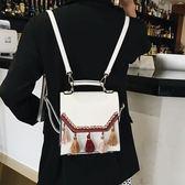 後背包 超火的雙肩包女小包2019新款時尚百搭迷你小清新背挎兩用小背包 2色