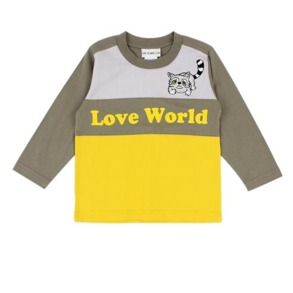 【愛的世界】純棉圓領小浣熊長袖上衣/2~4歲-台灣製- --秋冬上著