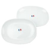 法國Luminarc【樂美雅】純白松子盤二入組