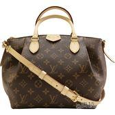 【Louis Vuitton 路易威登】M48814 經典Monogram TURENNE MM 手提/斜背水餃包