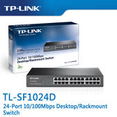 【免運費】TP-LINK  TL-SF1024D  24-Port 10/100Mbps 商用 非管理型 交換器