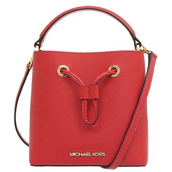 【南紡購物中心】MICHAEL KORS SURI防刮手提斜背兩用水桶包-小/紅