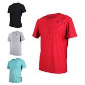 NIKE 男短袖針織衫(T恤 短T 慢跑 路跑 免運 ≡排汗專家≡