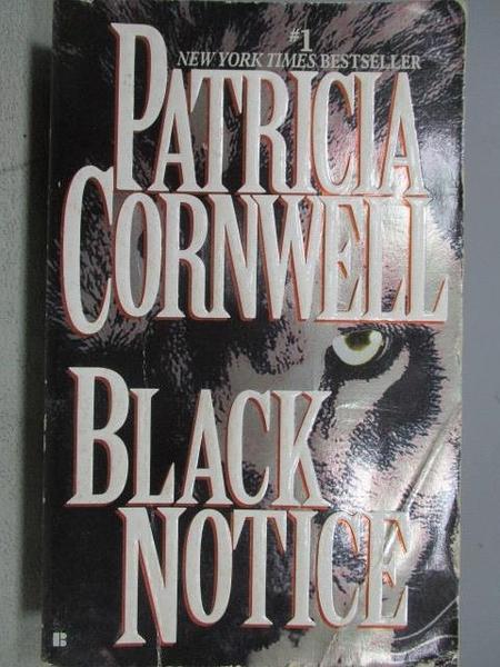【書寶二手書T9/原文小說_C6O】Black Notice_Patricia Cornwell
