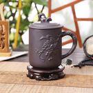 大容量紫砂杯帶蓋泡茶杯陶瓷辦公室純手工保溫杯子主人杯男士  易貨居