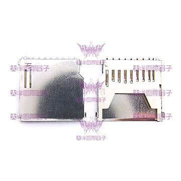 ◤大洋國際電子◢ SD卡槽 長式 (10PCS/包) SD Card 卡槽 0470C