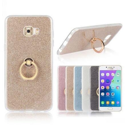 【SZ14】三星Galaxy C7 PRO手機殼 指環閃粉TPU C9 Pro手機殼 C5 Pro手機殼