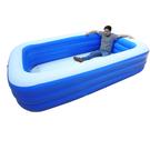 板橋現貨 2.6米遊泳池家用加厚寶寶充氣水池嬰兒遊泳桶成人家庭洗澡池 NMS