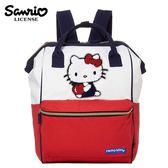 【日本正版】凱蒂貓 大開口 後背包 背包 口金後背包 Hello Kitty 三麗鷗 Sanrio - 113806