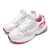adidas 復古慢跑鞋 Falcon W 白 灰 粉紅 女鞋 老爹鞋 【PUMP306】 CM8537
