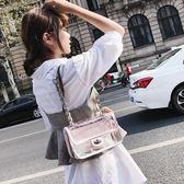 小包包女百搭菱格鍊條透明小方包時尚單肩斜挎女包側背包  蒂小屋服飾