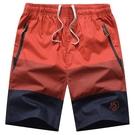 沙灘褲 胖子男士短褲夏季五分褲純棉沙灘褲男寬鬆加肥加大褲衩外穿中褲子 快速出貨