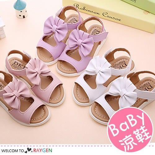 夏季甜美公主蝶結鏤空涼鞋 沙灘鞋