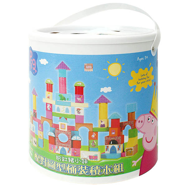 Peppa Pig 粉紅豬小妹 配對圖型桶裝積木組 TOYeGO 玩具e哥