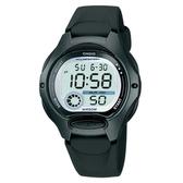 【CASIO】孩童時代十年電池電子錶-黑(LW-200-1B)