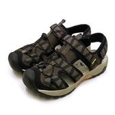LIKA夢 LOTTO 專業排水護趾戶外運動涼鞋 森林之王系列 咖黑棕 1653 男