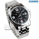 CASIO卡西歐 MTP-1314D-1A 優雅指針型個性腕錶 男錶 黑 日期視窗 MTP-1314D-1AVDF 交換禮物