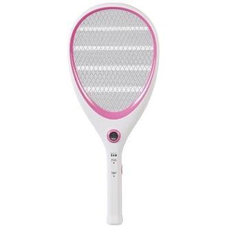 【大家源】三層充電式電蚊拍-網球拍造型款。可愛粉/TCY-6143