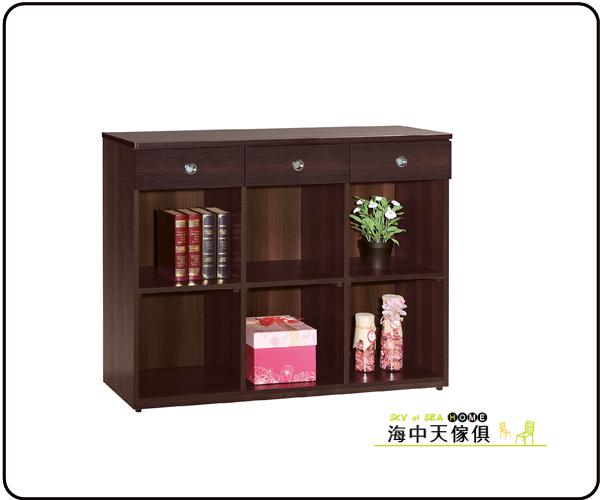 {{ 海中天休閒傢俱廣場 }} G-35 摩登時尚 書櫃系列 639-5 安寶耐磨胡桃4尺多功能置物櫃