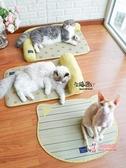 寵物涼墊 宅貓醬 藺草涼席寵物涼墊窩沙發床L型貓沙發涼感寵物墊貓用品