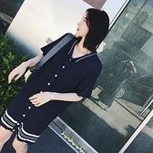 洋裝-短袖秋季POLO領針織直筒女連身裙73pu73[巴黎精品]