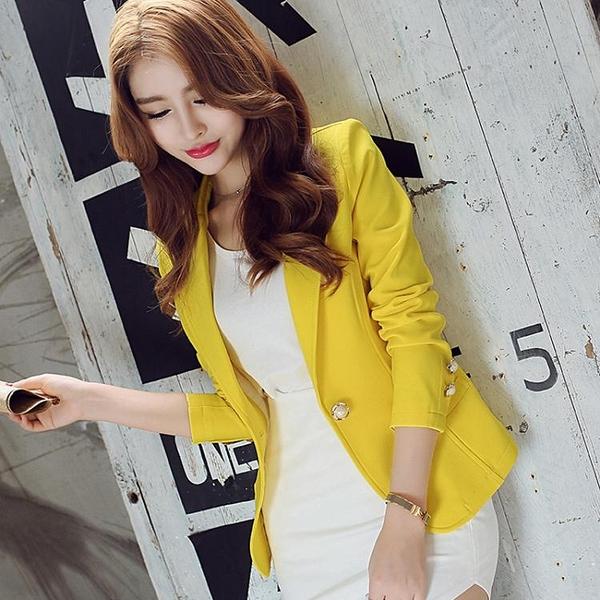 西装外套 彩黛妃2020春夏新款女裝外套女士大碼時尚休閒顯瘦修身短款小西裝
