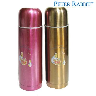 【クロワッサン科羅沙】Peter Rabbit 比得兔 晶漾保溫瓶0.5ML (桃紅.金 二色可選)