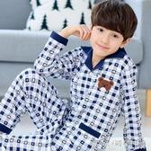 兒童睡衣10-11-12-13-15歲男生初中青少年全棉男童男孩小孩家居服 晴天時尚館