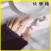 【快樂購】戒指 S92銀戒指日韓風簡約交叉開口戒指尾戒
