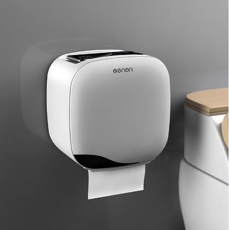 紙巾盒 衛生間紙巾盒廁所衛生紙置物架廁紙盒免打孔防水卷紙筒創意抽紙盒 維多原創 DF